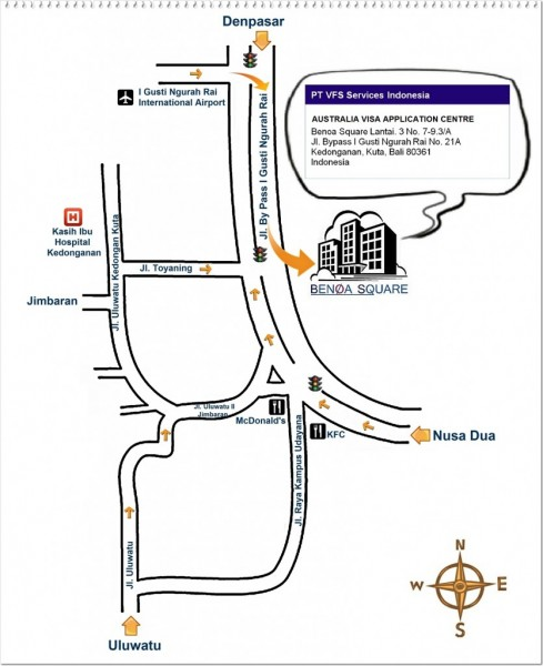 Directions to the Visa Center