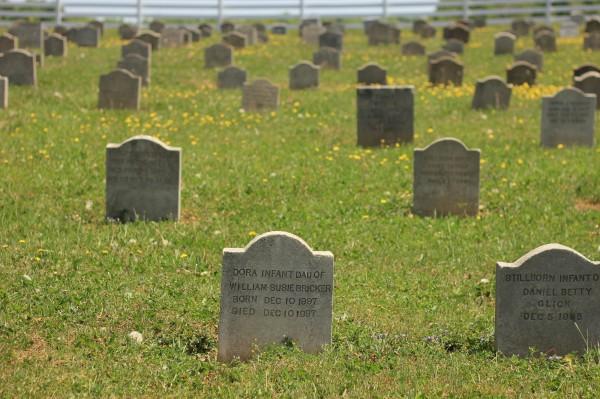 1 (31) кладбища или могилы эмишей (на смешанных территориях) можно различить сразу - всё очень просто, детей хоронят в одном углу, стариков в другом