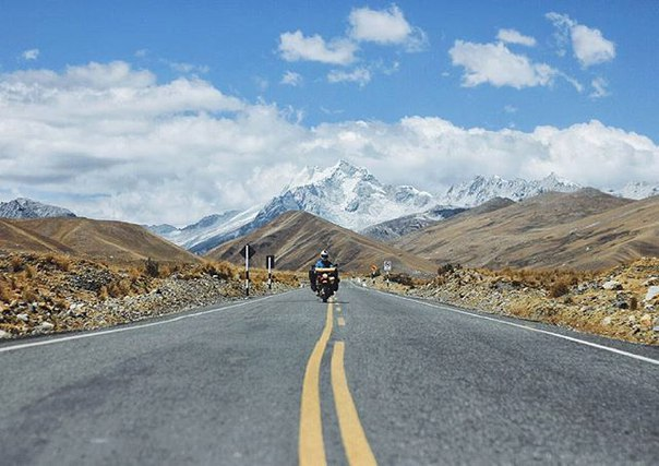 travel on a motorcycle in Peru